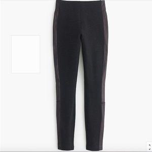 J Crew Pixie pant with leather tux stripe